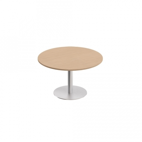 Стол для переговоров круглый на опоре-колонне (110x110x75)