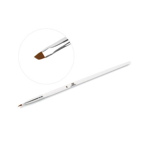 Кисть TNL скошенная №3 NEW (белая ручка)