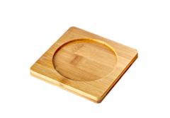 Бамбуковая подставка для пиал, чашек и кружек, 10*10 см,4 шт