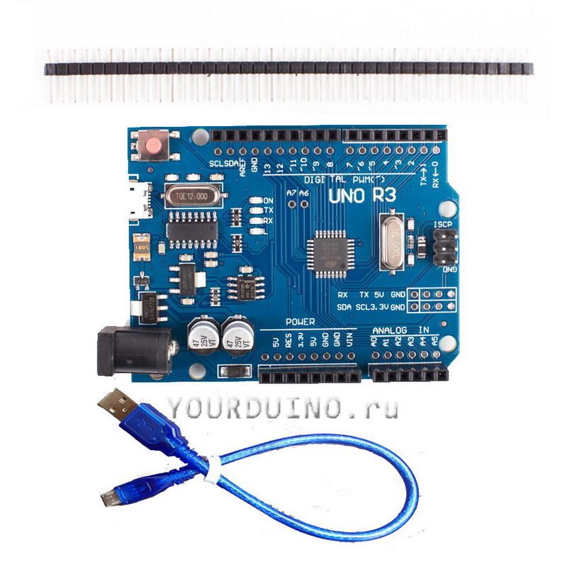 UNO R3 micro USB с кабелем