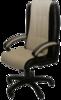 Фортуна 5(9) Кресло для руководителя (кожзам комбинированный, пластиковая крестовина, черные пластиковые подлокотники)