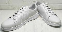 Белые сникерсы туфли спортивные женские Evromoda 141-1511 White Leather.