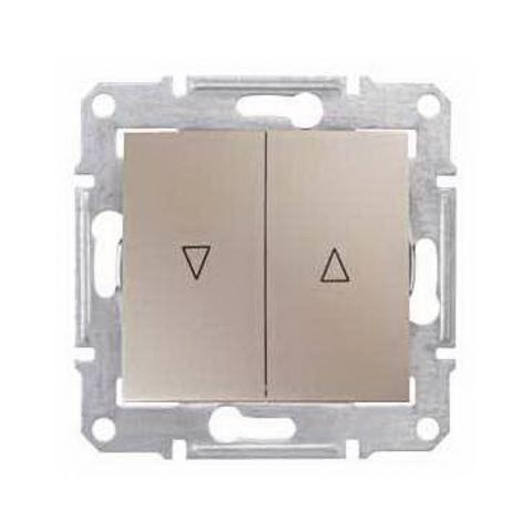 Выключатель для жалюзи с электрической блокировкой 10А. Цвет титан. Schneider Electric Sedna. SDN1300168