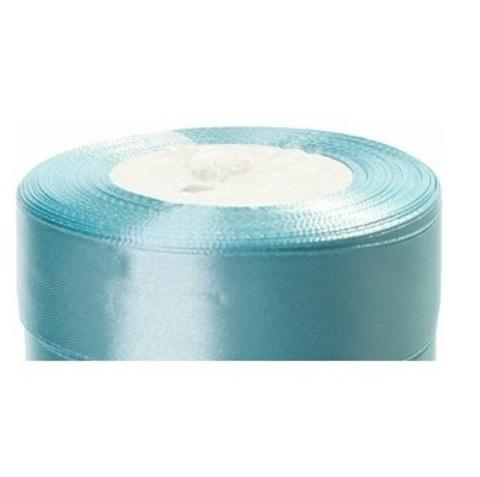 Лента атласная (размер:25мм х 25 ярдов) Цвет:светло-голубой