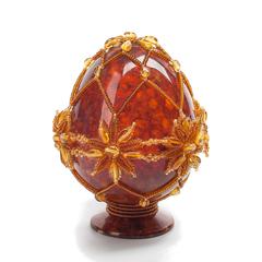 Сувенирное Пасхальное яйцо (натуральный янтарь, бисер), АВ-0769