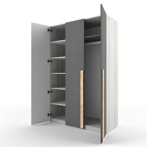 Шкаф 3-х створчатый 38 попугаев Ньютон Грэй