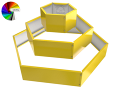 Клумба многоугольная оцинкованная 3 яруса с выбором полимерного покрытия