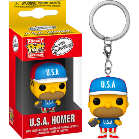 Брелок Funko Pocket Pop! Vinyl Keychain: The Simpsons - U.S.A. Homer