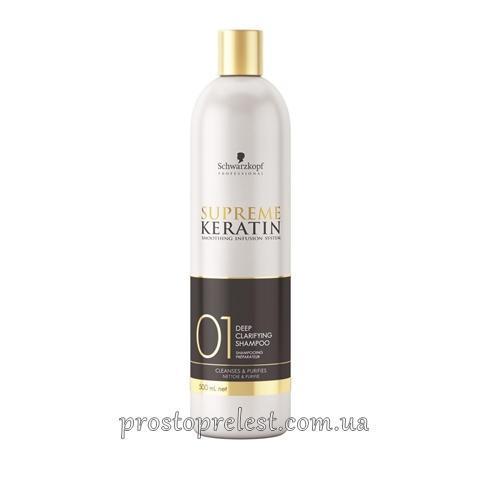 Schwarzkopf Supreme Keratin 01 Deep Clarifying Shampoo - Шампунь для глибокого очищення