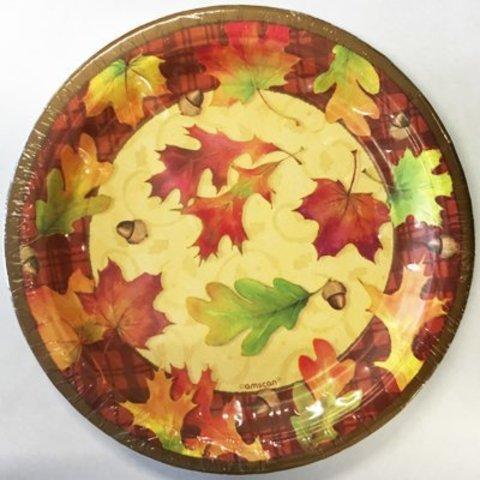 Тарелки средние Осенние листья, 8 штук