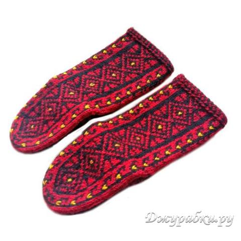 Джурабы носки бордовые 0138