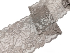 Эластичное кружево, ОПТ, 21 см, темно-серое, (Арт: EK-2210), м