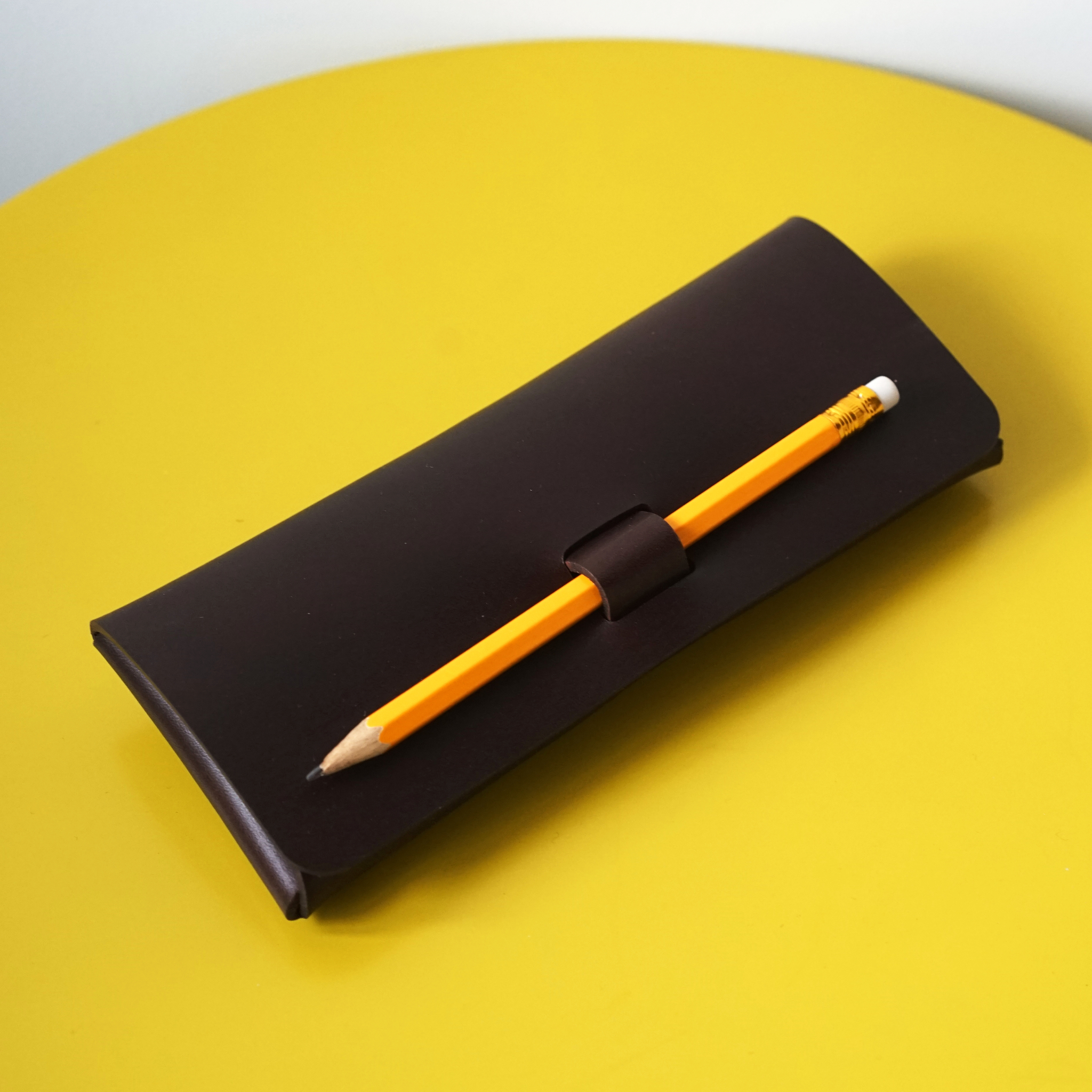 Leather Projects Pen-Lock Pencil Case Brown