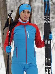 Женская утепленная лыжная куртка Nordski Premium 2020 Blue-Red