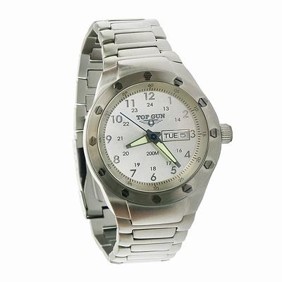 Часы Top Gun Official Watch Silver Face