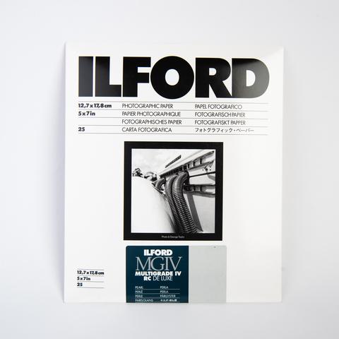 Фотобумага Ilford MGIV RC De Luxe, 12,7 x 17,8 см, перламутровая, 25 листов