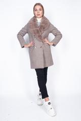 Пальто кашемировое с меховым воротником купить