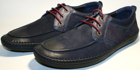 Мужские мокасины туфли кэжуал стиль. Кожаные мокасины туфли на шнурове. Темно синие мужские туфли на плоской подове смарт кэжуал Luciano Bellini – NBR
