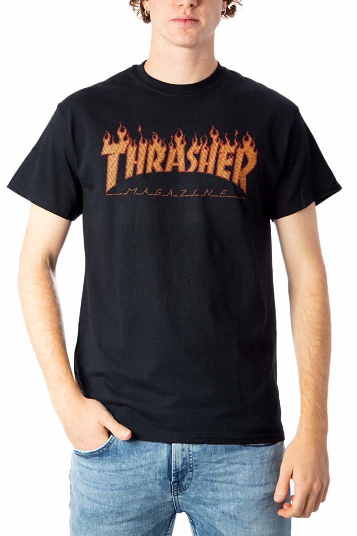Футболка THRASHER Flame Halftone (Black)