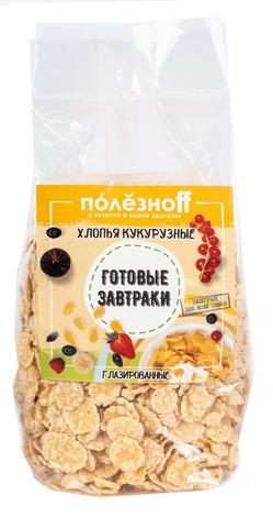 Готовый завтрак ПолезноFF Кукурузные хлопья глазированные 150 г