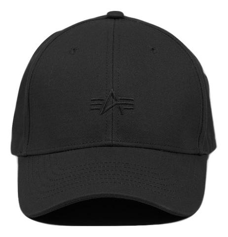 Кепка Alpha Industries Small Logo Black (черная)