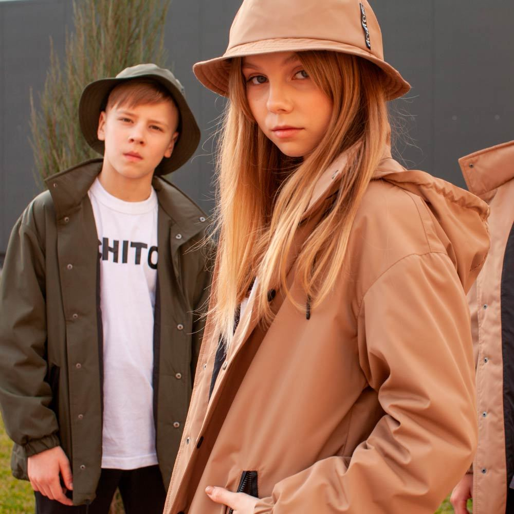 Підліткова світло-коричнева парка на дівчинку