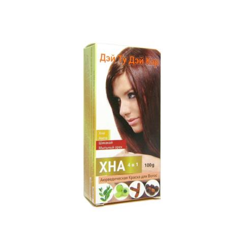Хна натуральная для волос (Дэй Ту Дэй Кэр)  4 в 1( хна,амла, шикакай,мыльный орех )100гр