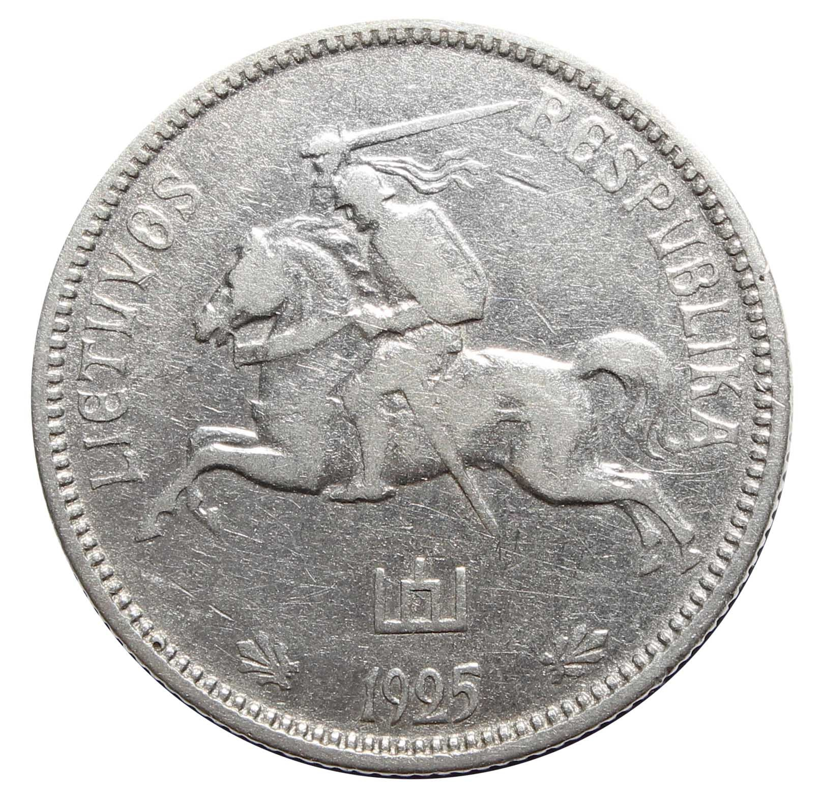 2 лит. Литва. 1925 год. Серебро. F-VF