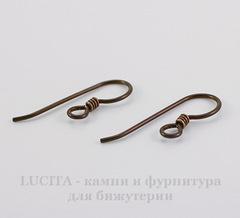 Швензы-крючки TierraCast с пружинкой 23х8 мм (цвет-античная медь), пара