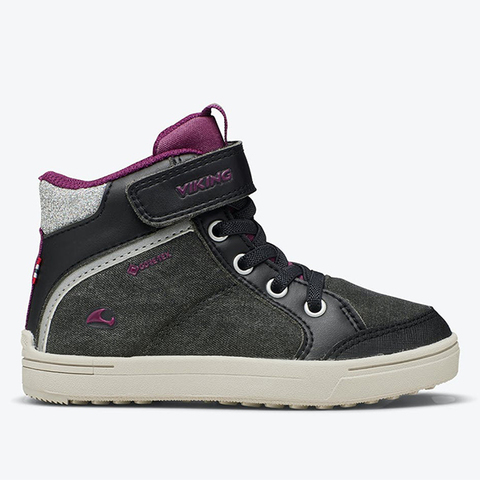 Кеды Viking Laila Mid GTX Black/Dark Pink
