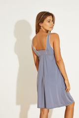 Нічна сорочка міді синього кольору