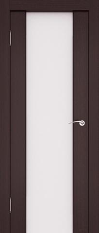 Дверь Ладора 3/3, цвет африканский орех, остекленная