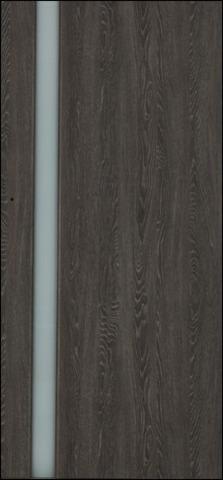 Дверь 3/1 (дуб седой, остекленная экошпон), фабрика Ладора