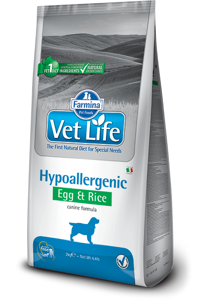 Сухой корм Корм для собак, FARMINA Vet Life HIPO Egg & Rice, при пищевой аллергии, яйцо и рис farmina-vet-life-canine-hypoallergenic-egg_web.png