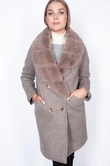 Пальто кашемировое с меховым воротником недорого