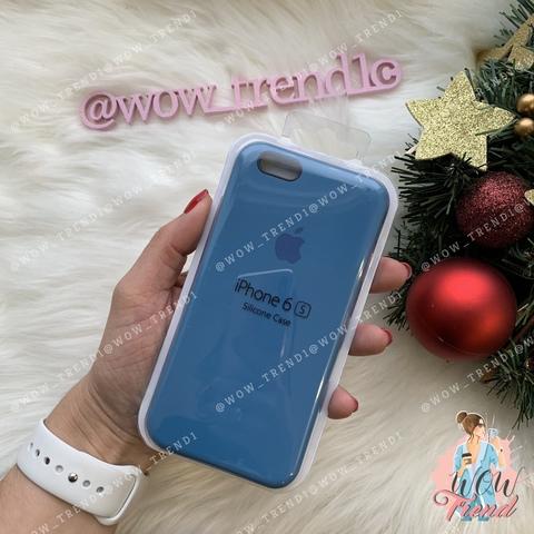 Чехол iPhone 6/6s Silicone Case /denim blue/ джинс 1:1