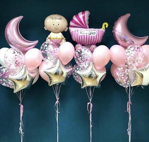 Набор воздушных шаров на выписку для девочки №2