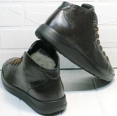 Осенние ботинки кеды коричневые мужские Ikoc 1770-5 B-Brown.