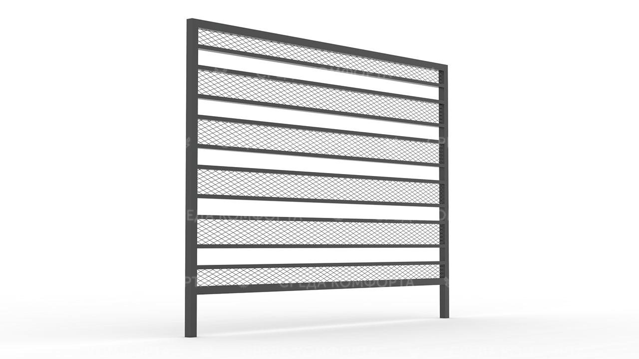Забор из сетки рабицы ZBR0190