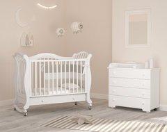 Кровать детская Габриэлла люкс на колесиках с ящиком