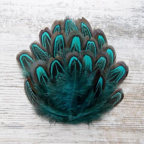 Перо фазана окрашенное (20 шт.)