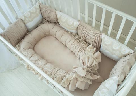 Комплект в кроватку Taupe, на 4 стороны кроватки