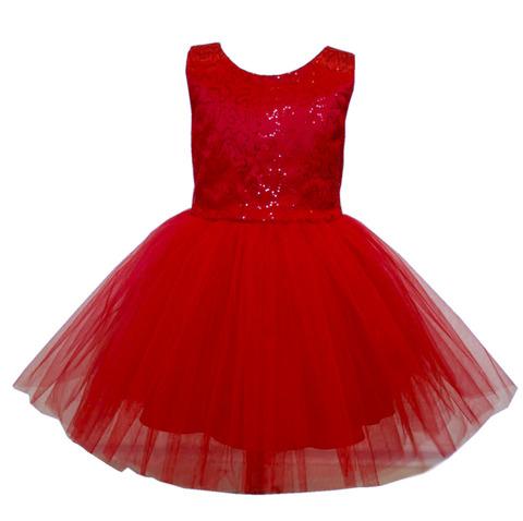 Платье короткое красное с пайетками