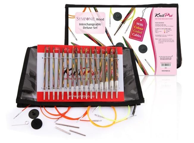 KnitPro Набор съемных спиц Symfonie Wood Deluxe Set 20613