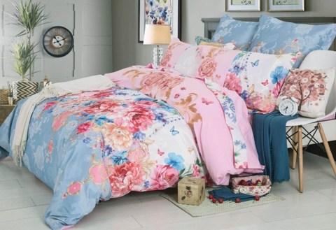 Семейное постельное белье сатин с вышивкой Кристел