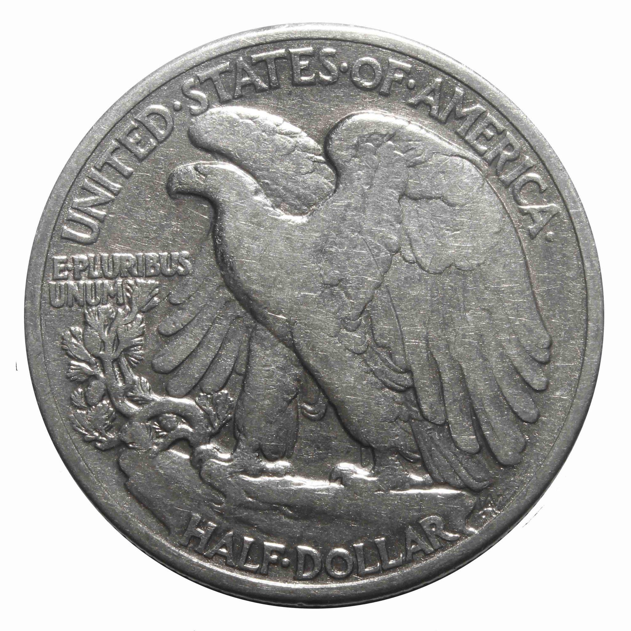 1/2 доллара США (Шагающая Cвобода). 1941 год. F-VF