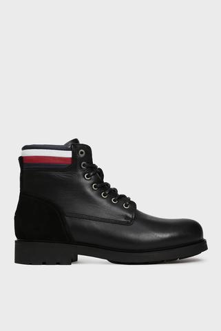 Мужские черные кожаные ботинки ACTIVE Tommy Hilfiger