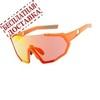 Очки солнцезащитные XQ547, (оранжевый / оранжевые revo) +2 доп. линзы