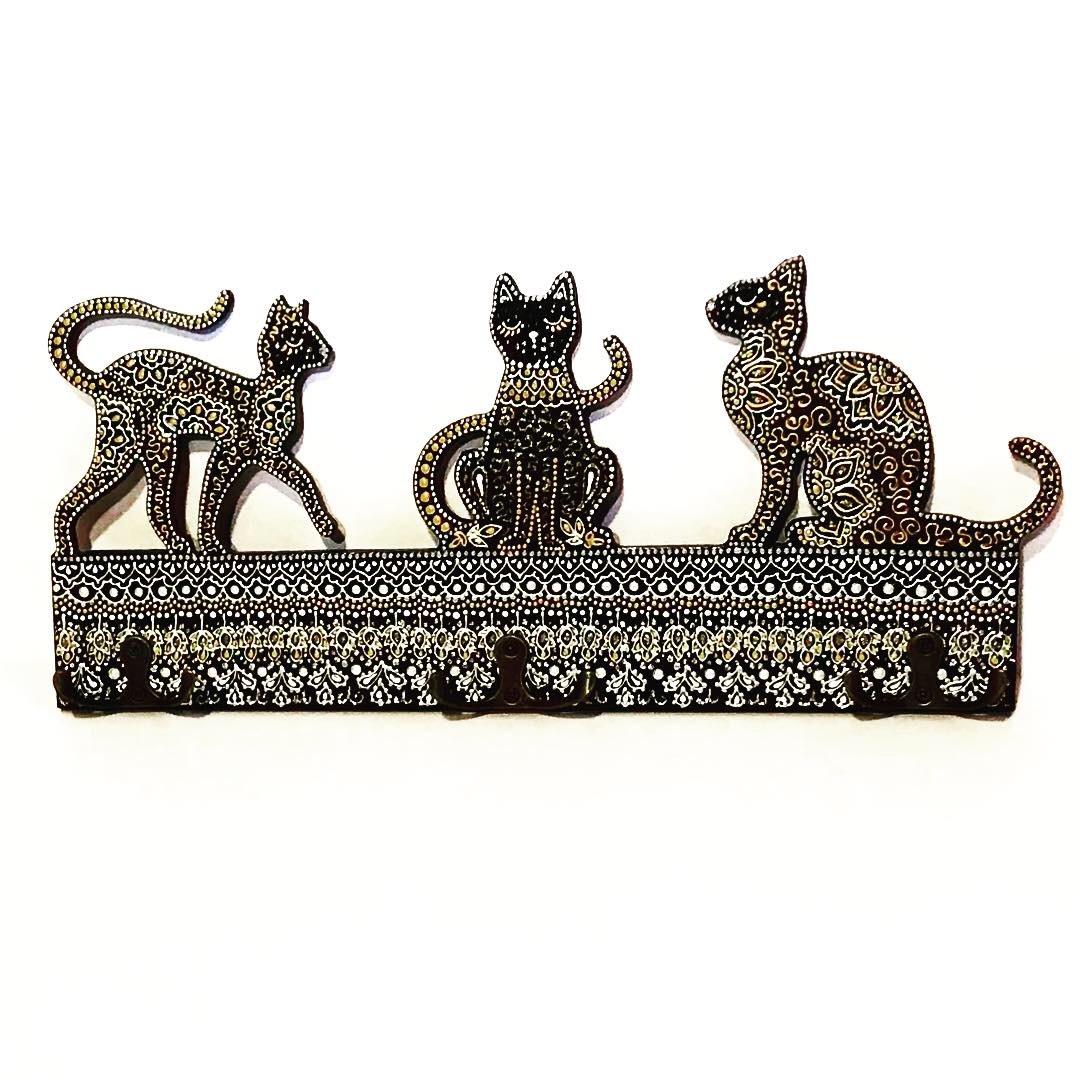 Ключница настенная Кошки