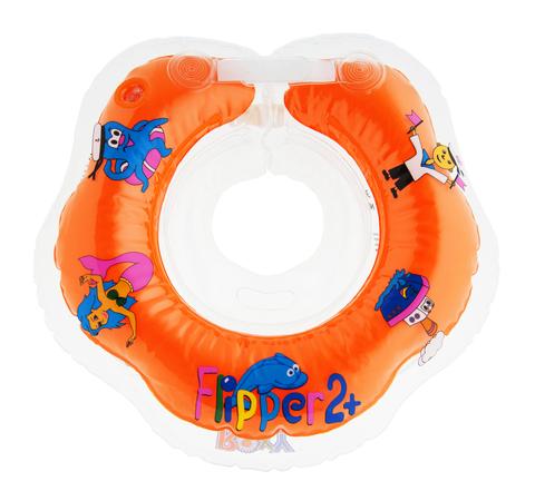 Надувной круг на шею для купания малышей Flipper 2+.